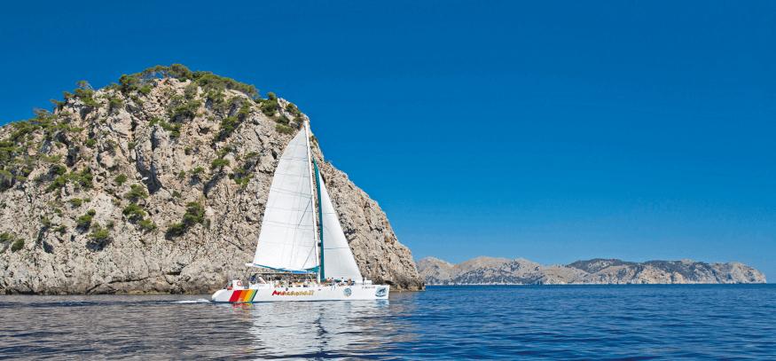 excursion en catamaran en Mallorca en Alcudia