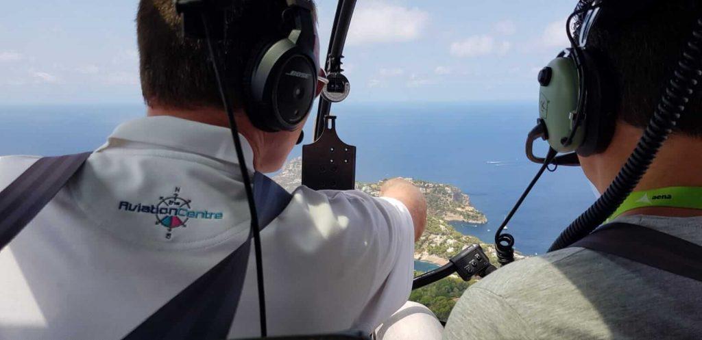 helicoptero vuelo en mallorca