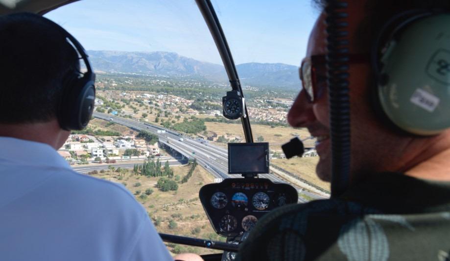 vuelo en helicóptero en Mallorca