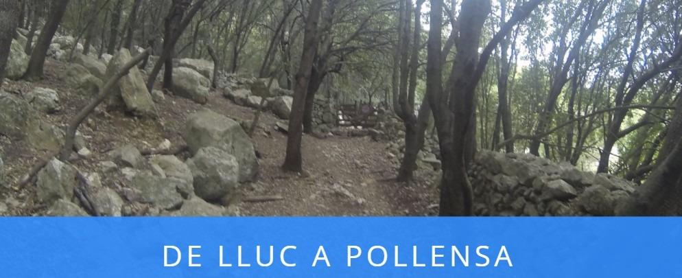 Sendero de la ruta de Lluc a Pollensa