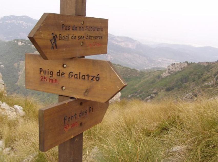 ruta al puig de Galatzo